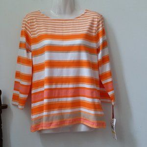 Ruby RD. Knit T-Shirt Top Size M Long Sleeve